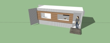 20x8x8 ISBU Shipping Container conversion to a Studio