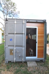 Exterior doors kept in tact to provide for additional security and weather protection