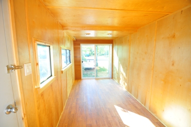 Completed interior container studio space.